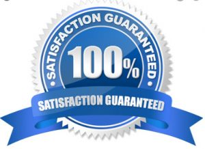 100% Customer Satisfaction is important to us.